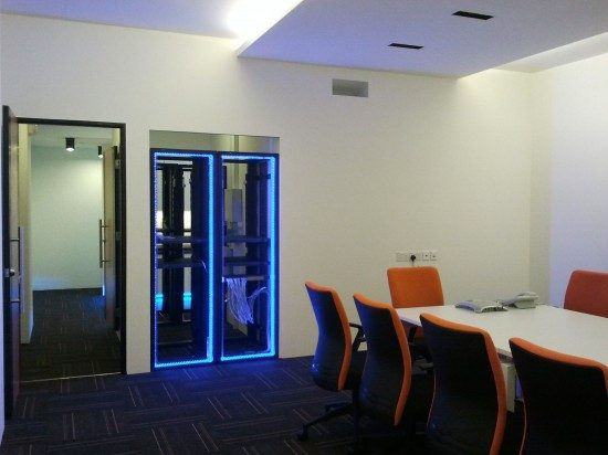 office design with LED lights Singapore