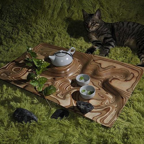 Topographic Tea Table By Artonomos