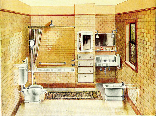 """Image From Page 23 Of """"Modern Bath Rooms : With Useful Information And A Number Of Valuable Suggestions About Plumbing For Home Builders Or Those About To Remodel Their Present Dwellings"""" (1912)"""