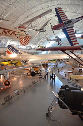 Steven F. Udvar-Hazy Center: South Hangar Panorama, Including Air France Concorde, De Havilland-Canada DHC-1A Chipmunk Pennzoil Special Among Others