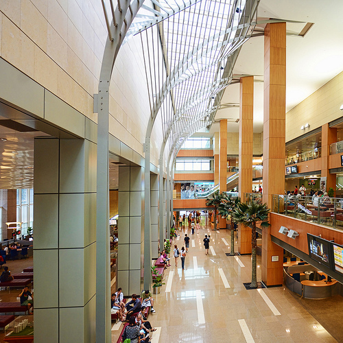 Lobby At HDB Hub, Toa Payoh – The Ambience Feels Like An Airport Or Luxury Hotel...