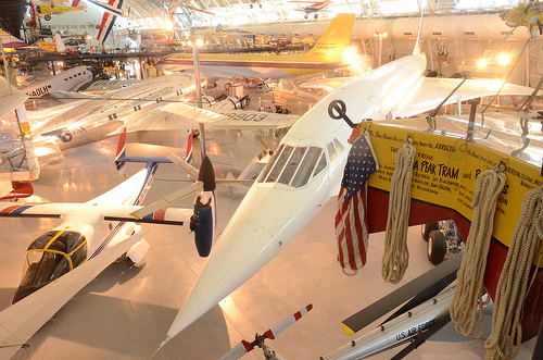 Steven F. Udvar-Hazy Center: Air France Concorde, With Bell XV-15 TRRA Tilt Rotor Test Plane In Foreground