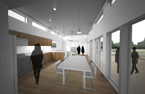 Florida/Singapore Solar Decathlon 2015 House Rendering: Interior 1
