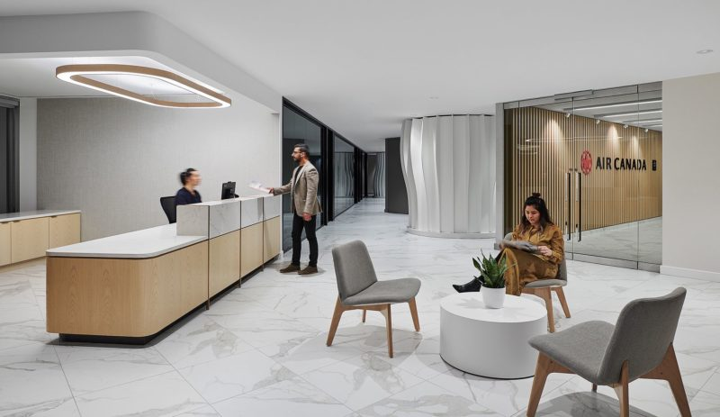 A Look Inside Air Canada's Elegant Toronto Office