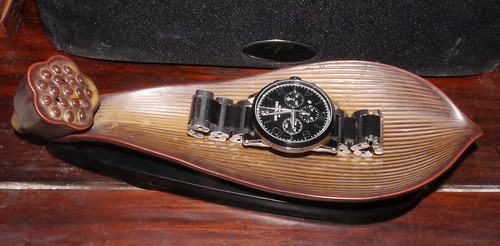 A Ceramic Incense Burner And Montblanc Wrist Watch With Ceramic Bracelet Links An's A Ceramic Bezel